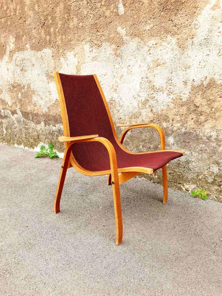 Vintage Lamino Lounge Stol, Design Yngve Ekstrom, Skandinavski Dizajn, Danska 60s