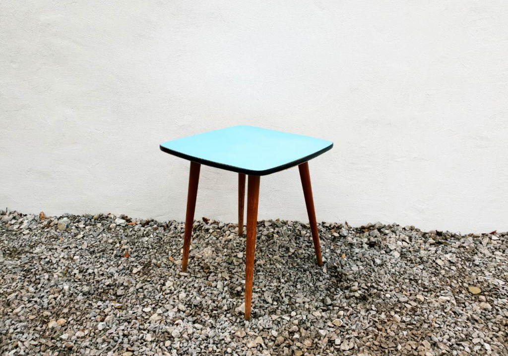 Mid Century Modern Rex Coffee Table by Niko Kralj produced by Stol Kamnik / Blue / Wood /60's Yugoslavia