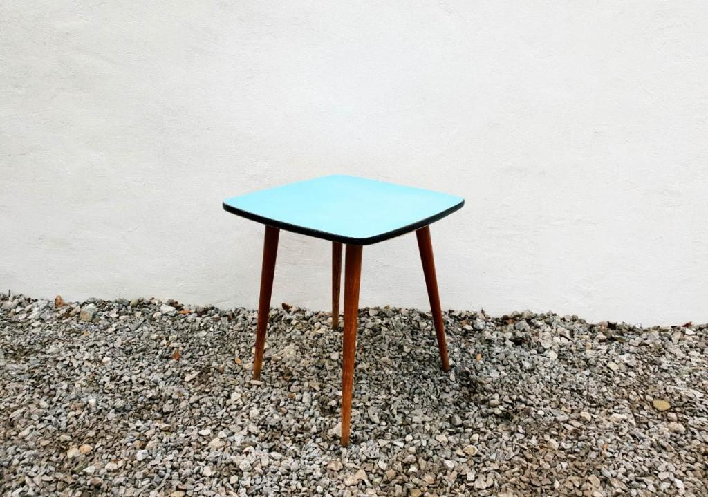 Vintage Rex Kavna Mizica/Dizajn Niko Kralj/Stol Kamnik/Modra/60's Yugoslavia