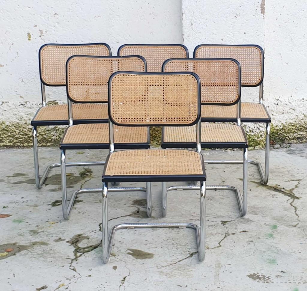 Vintage Cesca Stoli, Design Marcel Breuer, Bauhas, Italija 70s