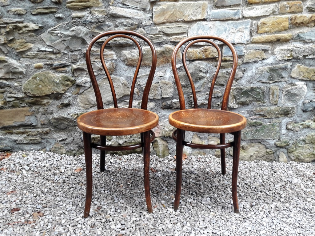 Antique Thonet Chairs / Pair / Austria 1900