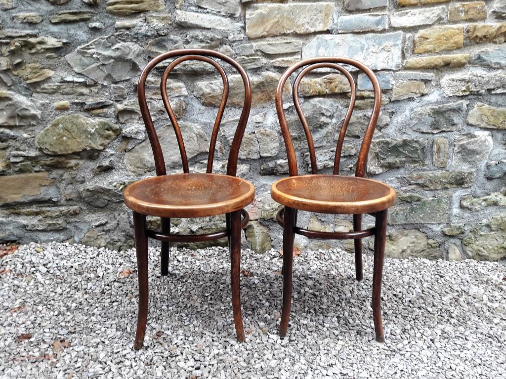 Antique Thonet Chairs / Pair / Austria 1900