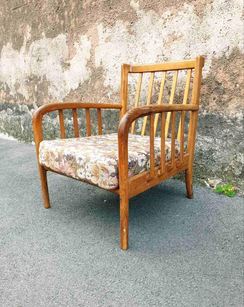 Vintage Skandinavski Lounge Fotelj, 60s
