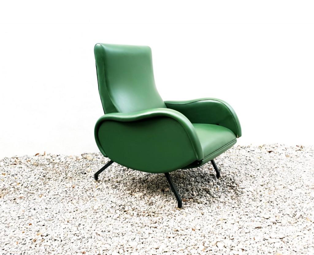 Vintage Raztegljiv Fotelj / Design Pizzoli / Italy 60s