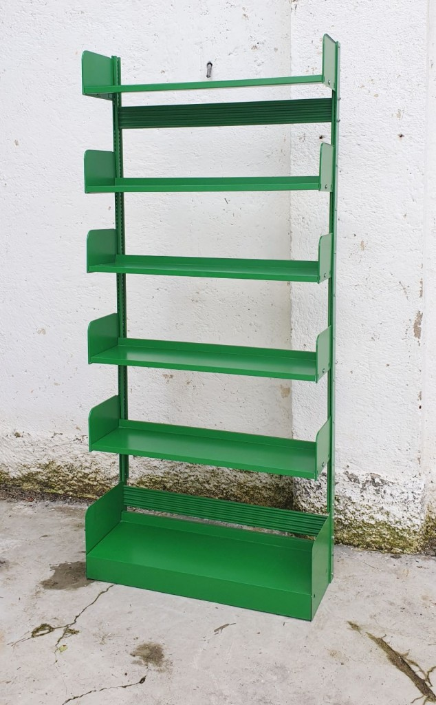 Mid-Century Green Congresso Metal Bookshelf from Lips Vago, Italy, 60s