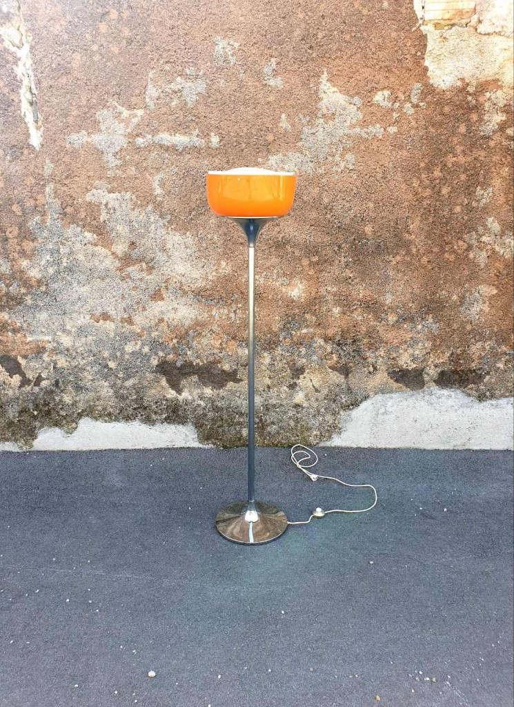 Mid Century Floor Lamp, Model Medusa, Design Massoni for Guzzini, Meblo 70s